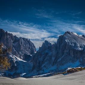 Sassolungo by Eva Lechner - Landscapes Mountains & Hills ( south tyrol, october, dolomites, sassolungo, alpe di siusi,  )