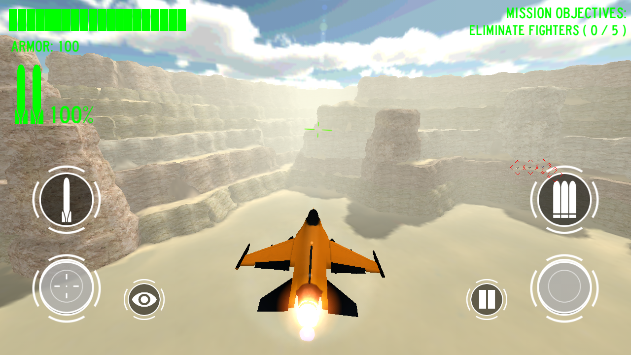 Orange Jet Fighter- screenshot