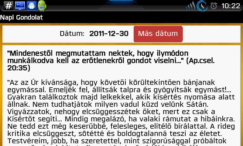 Napi gondolat- screenshot