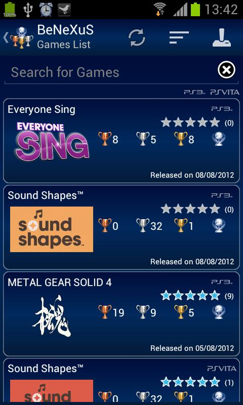 PS3 Trophies PRO - screenshot