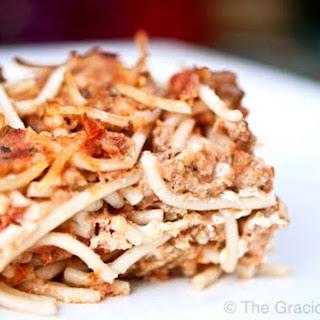Clean Eating Spaghetti Pie