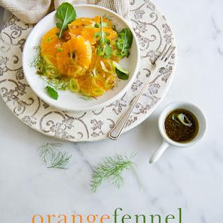 Orange Fennel Salad with toasted Fennel Vinaigrette.