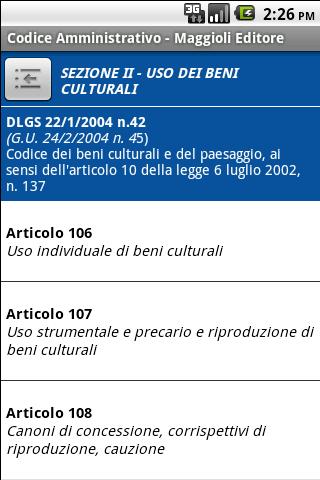Codice Amministrativo- screenshot