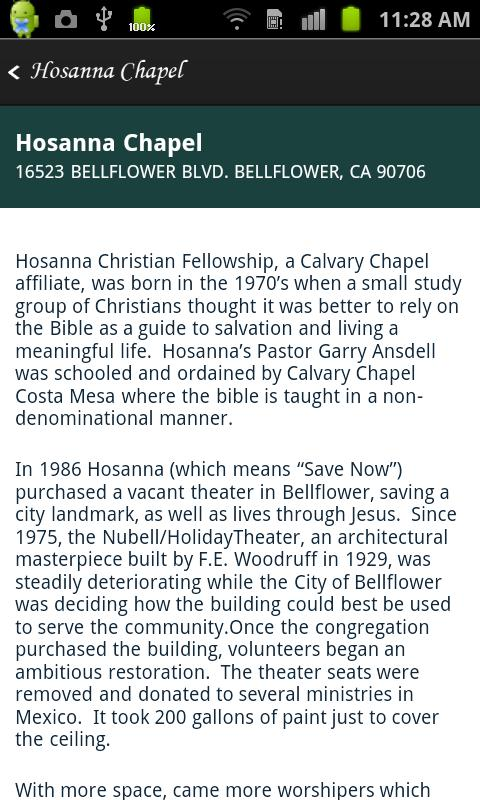 Hosanna Christian Fellowship- screenshot