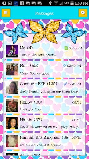 GO SMS - Butterflies 8
