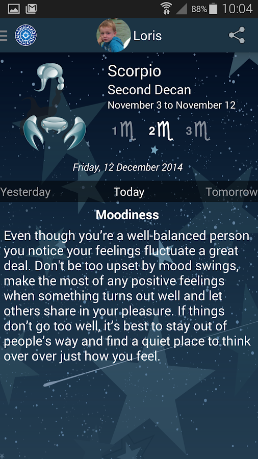 My Horoscope - screenshot