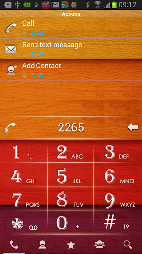 RocketDial Wood2nd Theme