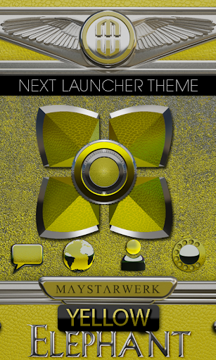 Next Launcher Theme Yellow Ele