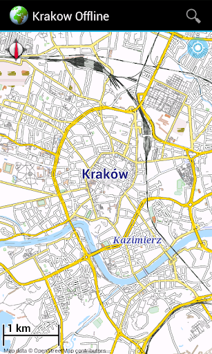 Offline Map: Krakow Poland