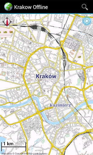 Offline Map: Krakow Poland