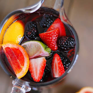 Blood Orange Blackberry Sangria.