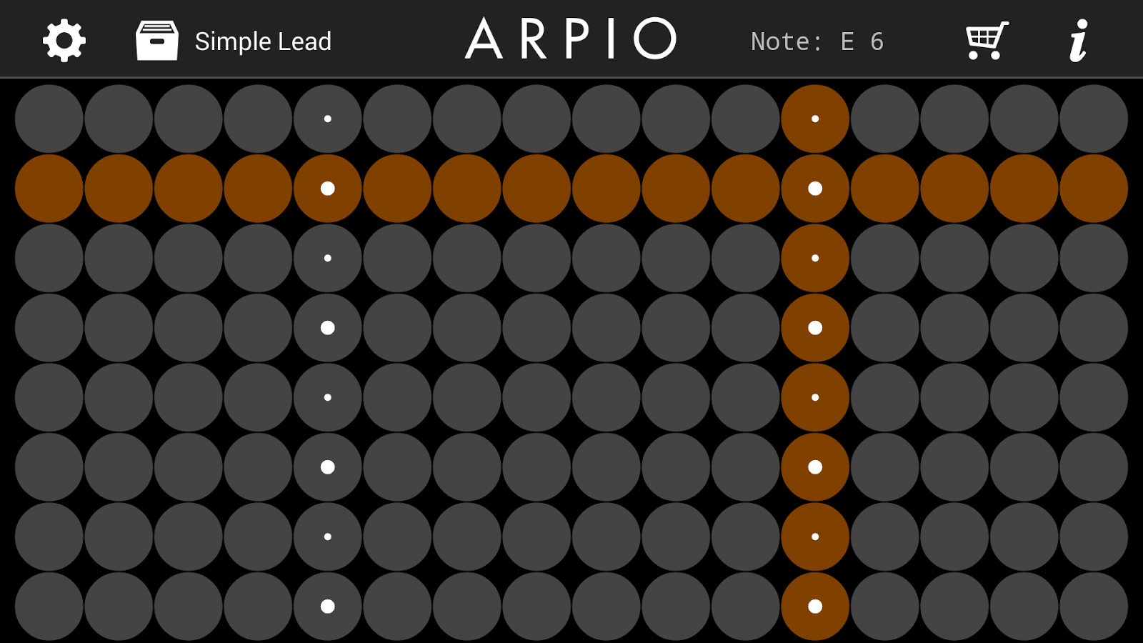 ARPIO a new musical instrument - screenshot
