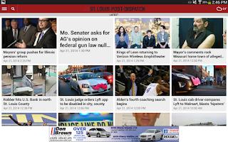 Screenshot of St. Louis Post-Dispatch