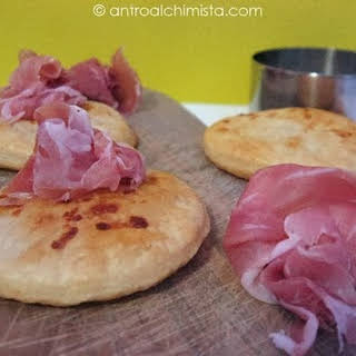Parmesan Cheese Puff Pastry Crackers and Parma Prosciutto Roses.