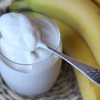 Coconut Milk Banana Smoothie Ice Cream.