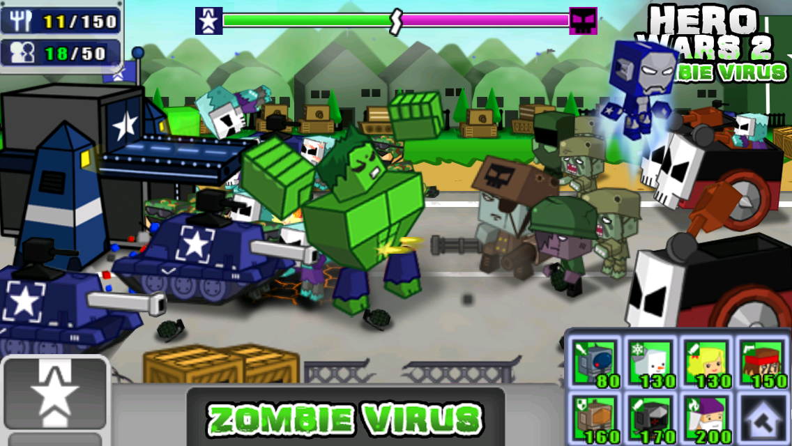 Hero Wars 2: Zombie Virus- screenshot