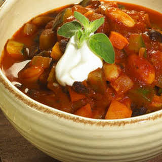 Hearty Two-bean Vegetable Chili.