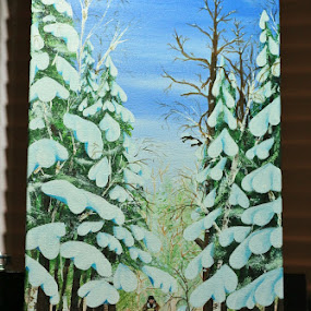 Mushing the Trails of Kearney by Roberta Janik - Painting All Painting