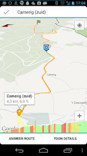 Fietstijden.nl - GPS fiets-app - screenshot thumbnail