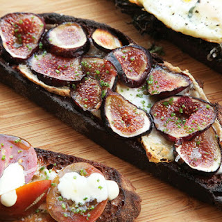 Taleggio Cheese and Mission Fig Tartine