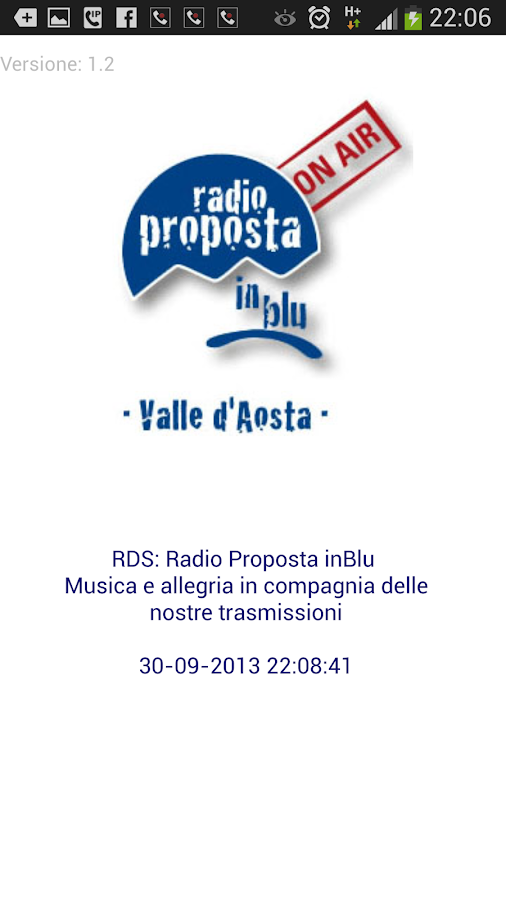 Radio Proposta inBlu- screenshot