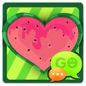 GO SMS Watermelon Heart Theme icon