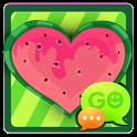 GO SMS Watermelon Heart Theme icon
