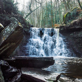 Goit Stock Falls by Nicole Williams - Novices Only Landscapes ( stream, goit stock falls, waterfall, rocks )