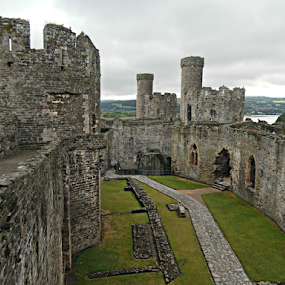 Conwy Castle by Deborah Russenberger - Buildings & Architecture Decaying & Abandoned ( wales, ruins, castle,  )
