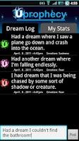 Screenshot of Dream Log