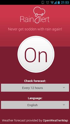Rain & Snow Alert - Alarm - screenshot