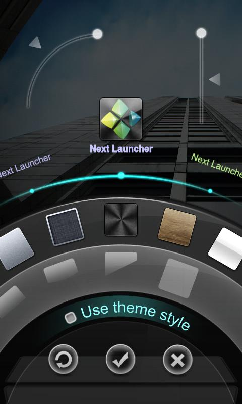 Next Launcher 3D Theme Dark- screenshot