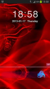 GO Locker Theme Red Fire - screenshot thumbnail
