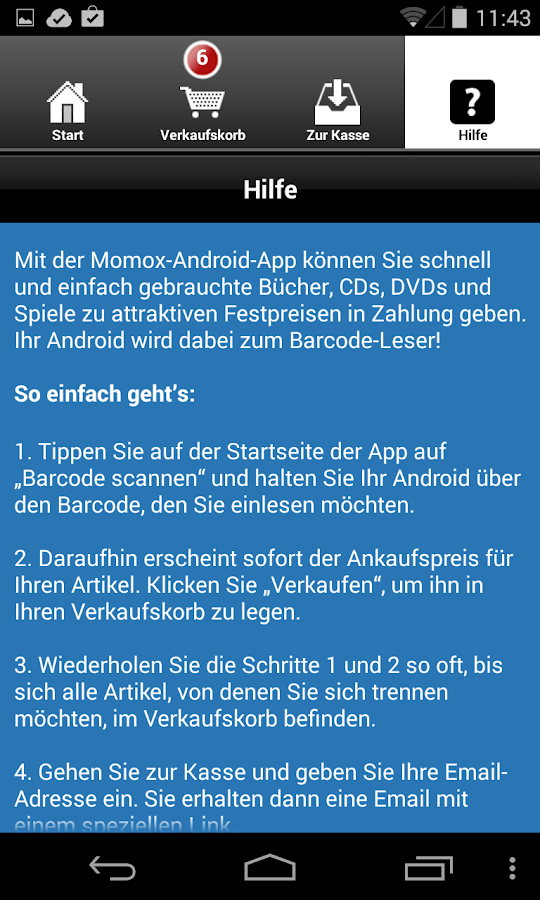 momox – Bücher, CD, DVD Ankauf - screenshot