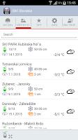 Screenshot of iSKI Slovakia