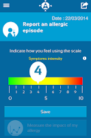 Screenshot of Allergy Track