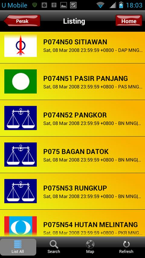 Undi PRU13 Malaysian Election- screenshot