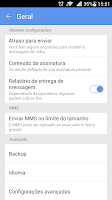 Screenshot of GO SMS Pro Portuguese-BR lang