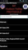 Screenshot of NY Hudson Valley EMS Protocols