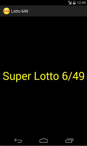 Philippine Lotto 6 49 Picker