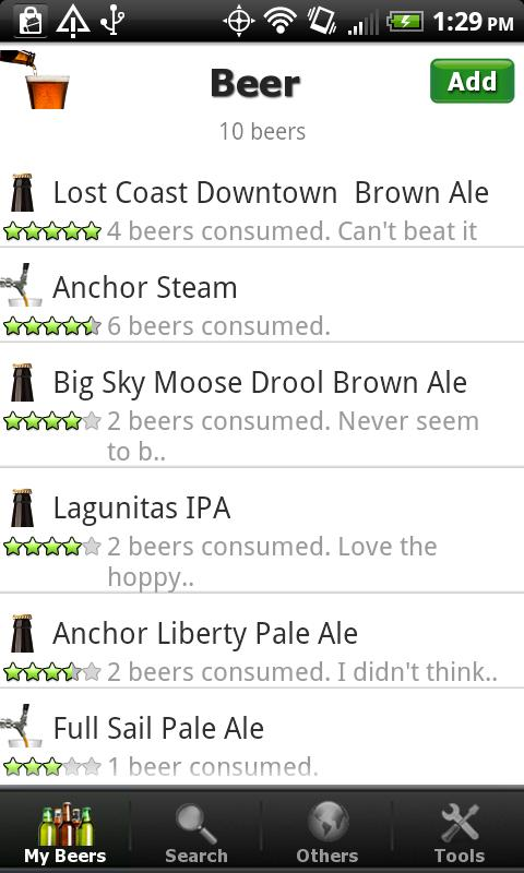 Beer + List, Ratings & Reviews - screenshot
