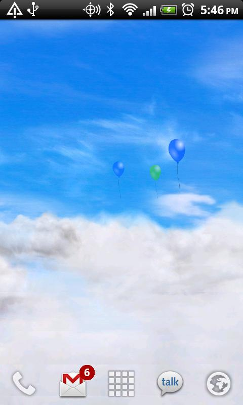 Blue Skies Free Live Wallpaper- screenshot
