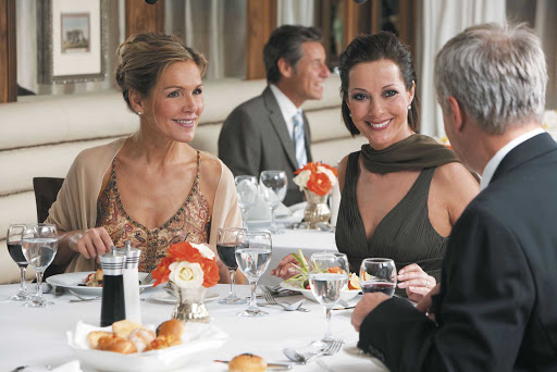 Uniworld-River-Tosca-dining - You'll dine with good company in the restaurant aboard River Tosca as you cruise down the Nile River.