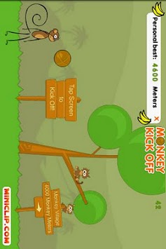 Monkey Kick Off -FREE fun game APK screenshot thumbnail 1