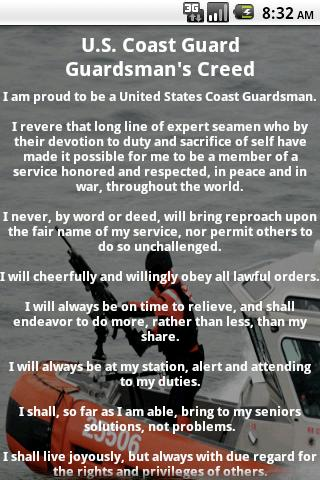 Coast Guard Creed- screenshot
