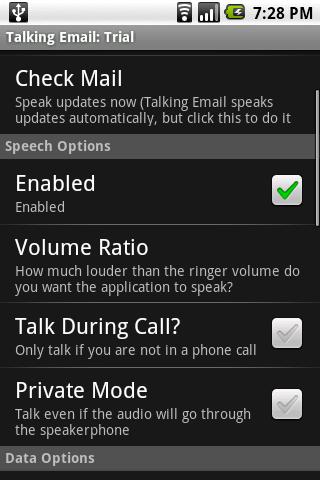 Talking Email screenshot #1