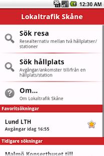 Lokaltrafik Skåne - screenshot thumbnail