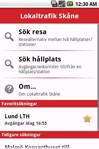 Lokaltrafik Skåne- screenshot