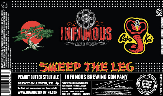 Logo of Infamous Sweep The Leg - Peanut Butter Stout