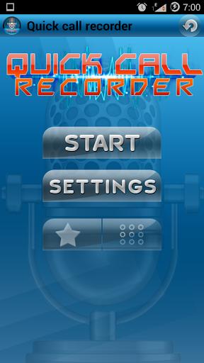 Quick Call Recorder